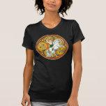 Camisetas célticas de las señoras, guerrero