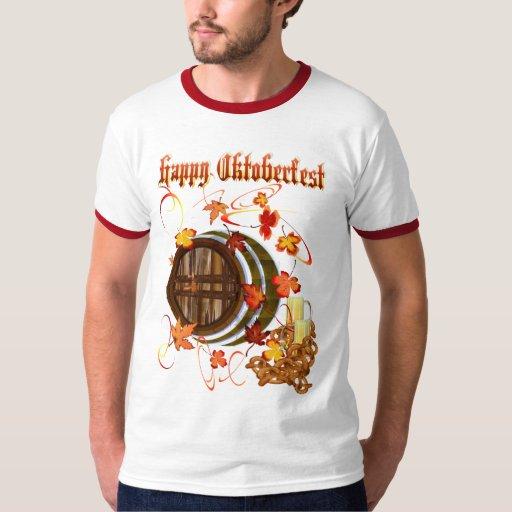 Camisetas Cerveza-Feliz grande de Oktoberfest Playera