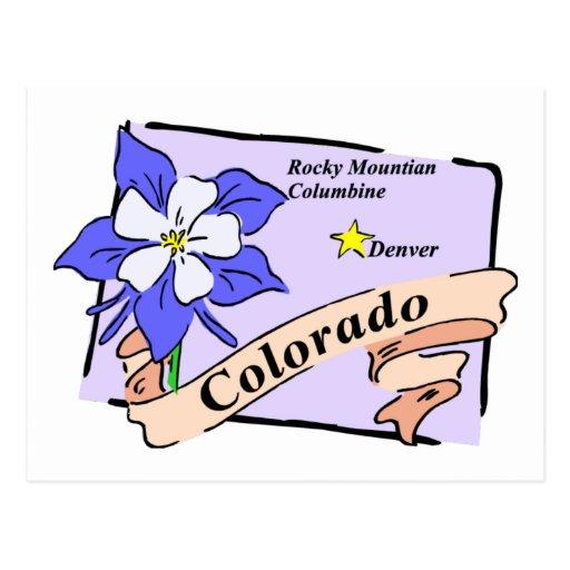 Camisetas coloridas del mapa de Colorado, regalos Postales