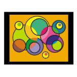 Camisetas coloridas y regalos del arte abstracto d tarjetas postales