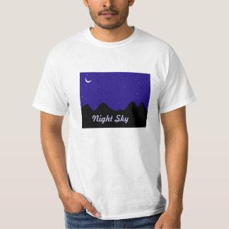Camisetas con el cielo nocturno impreso