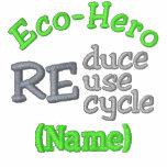 Camisetas conocido del Eco-Héroe Polo