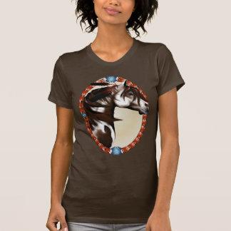 Camisetas corriente del óvalo del caballo