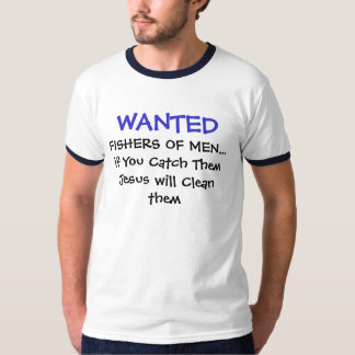 Camisetas cristianas - pescadores de Wnted de Polera