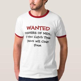 Camisetas cristianas - pescadores de Wnted de Poleras