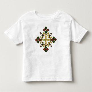 Camisetas cruzadas etíopes de los niños, camiseta