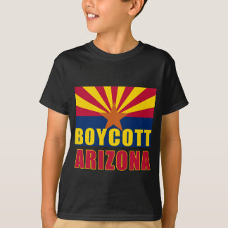 Camisetas de ARIZONA del BOICOTEO, botones, Remera