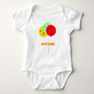 Camisetas de BalloonsT del juerguista 3 Mameluco De Bebé