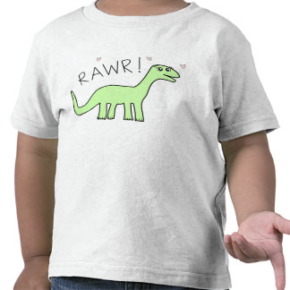 Camisetas de Bronto Rawr de los niños