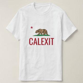 Camisetas de CALEXIT con la bandera del estado de
