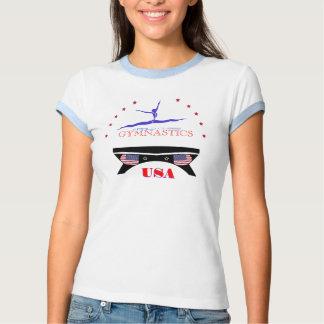 Camisetas de calidad mundial de la gimnasia de los remeras