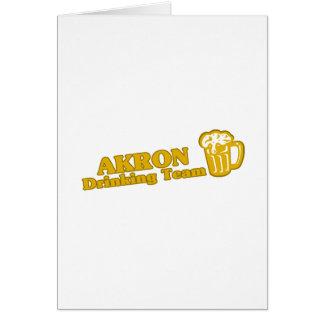 Camisetas de consumición del equipo de Akron Felicitación
