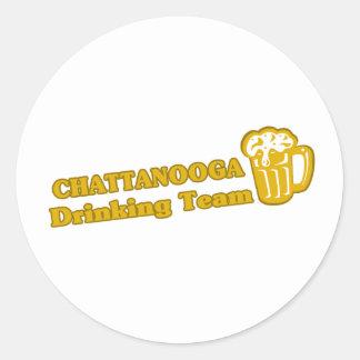 Camisetas de consumición del equipo de Chattanooga Etiquetas Redondas