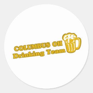 Camisetas de consumición del equipo de Columbus Etiqueta