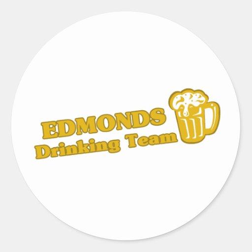 Camisetas de consumición del equipo de Edmonds Pegatina Redonda