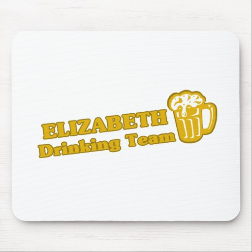Camisetas de consumición del equipo de Elizabeth Mousepads