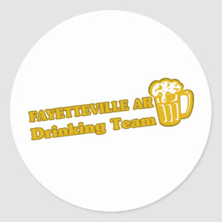 Camisetas de consumición del equipo de Fayettevill Etiqueta Redonda