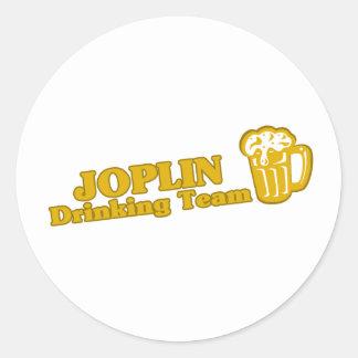 Camisetas de consumición del equipo de Joplin Etiquetas Redondas