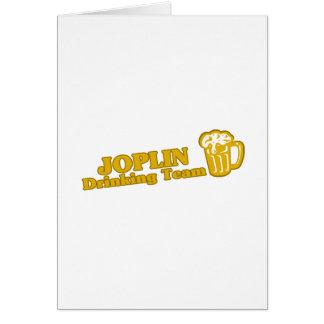 Camisetas de consumición del equipo de Joplin Tarjetón