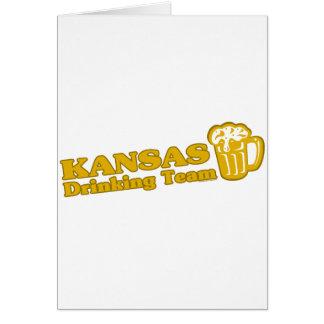 Camisetas de consumición del equipo de Kansas Felicitaciones