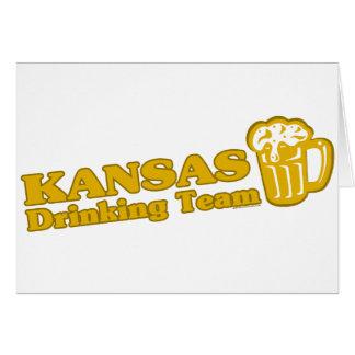 Camisetas de consumición del equipo de Kansas Tarjetas