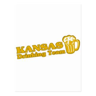Camisetas de consumición del equipo de Kansas Tarjeta Postal
