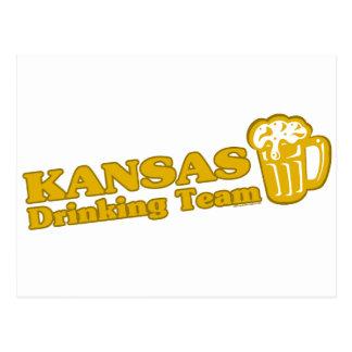 Camisetas de consumición del equipo de Kansas Tarjetas Postales