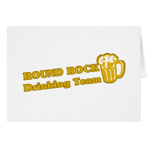 Camisetas de consumición del equipo de la roca red tarjeta de felicitación