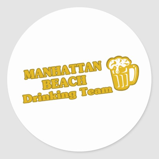 Camisetas de consumición del equipo de Manhattan Pegatina Redonda