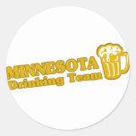 Camisetas de consumición del equipo de Minnesota Etiqueta Redonda