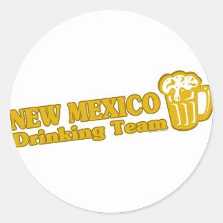 Camisetas de consumición del equipo de New México Etiquetas Redondas