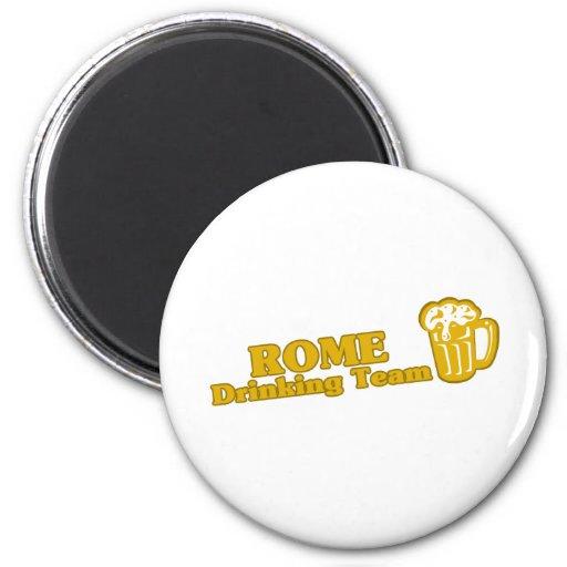Camisetas de consumición del equipo de Roma Imán Redondo 5 Cm