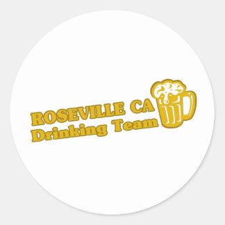 Camisetas de consumición del equipo de Roseville Etiquetas