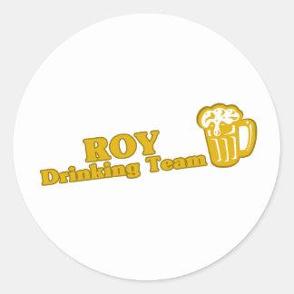 Camisetas de consumición del equipo de Roy Etiqueta Redonda