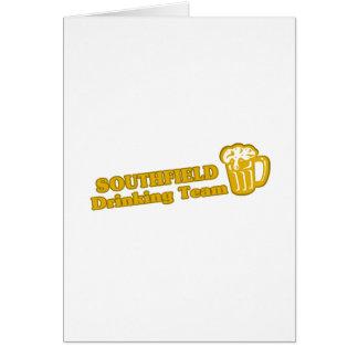 Camisetas de consumición del equipo de Southfield Tarjeton
