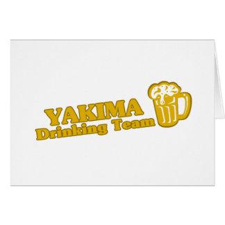 Camisetas de consumición del equipo de Yakima Tarjeta De Felicitación