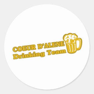 Camisetas de consumición del equipo del d'Alene de Pegatina Redonda