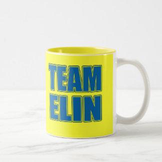 Camisetas de Elin del equipo, sudaderas con Taza Dos Tonos