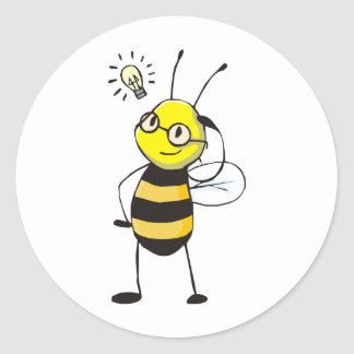 Camisetas de encargo: Camisetas de la abeja de la Pegatina Redonda