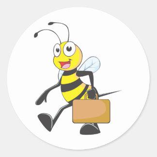 Camisetas de encargo: Camisetas de la abeja del Pegatina Redonda