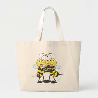 Camisetas de encargo: Camisetas feliz de la abeja  Bolsa De Mano