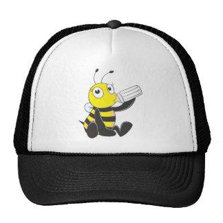 Camisetas de encargo: Camisetas feliz de la abeja Gorros Bordados