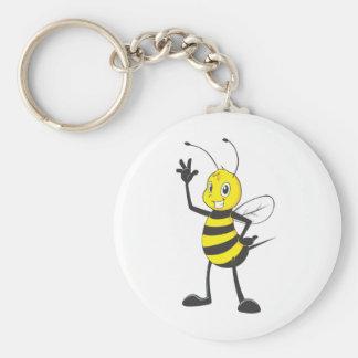 Camisetas de encargo: Camisetas feliz de la abeja Llavero Personalizado