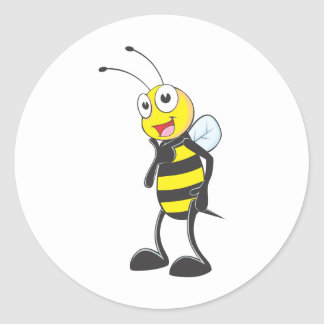Camisetas de encargo: Camisetas lindo de la abeja Pegatina Redonda