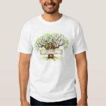 Camisetas de encargo del boda del árbol de amor - remeras