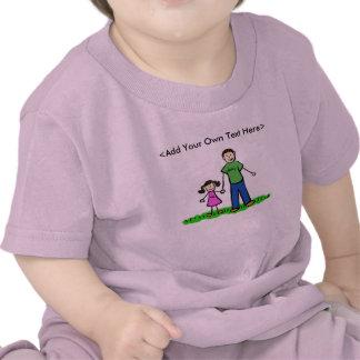 Camisetas de encargo del chica del papá (familia t