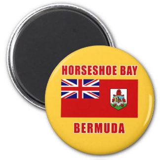 Camisetas DE HERRADURA de Bermudas de la BAHÍA, re Iman Para Frigorífico