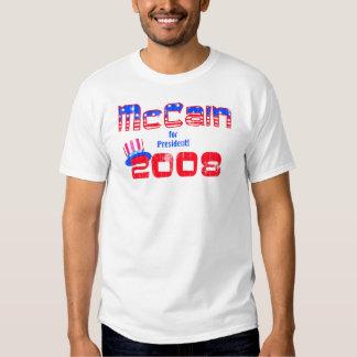 Camisetas de John McCain Playeras