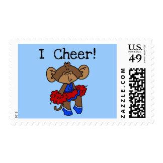 Camisetas de la animadora del mono y regalos sellos