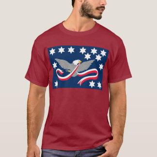 Camisetas de la bandera de la rebelión del whisky